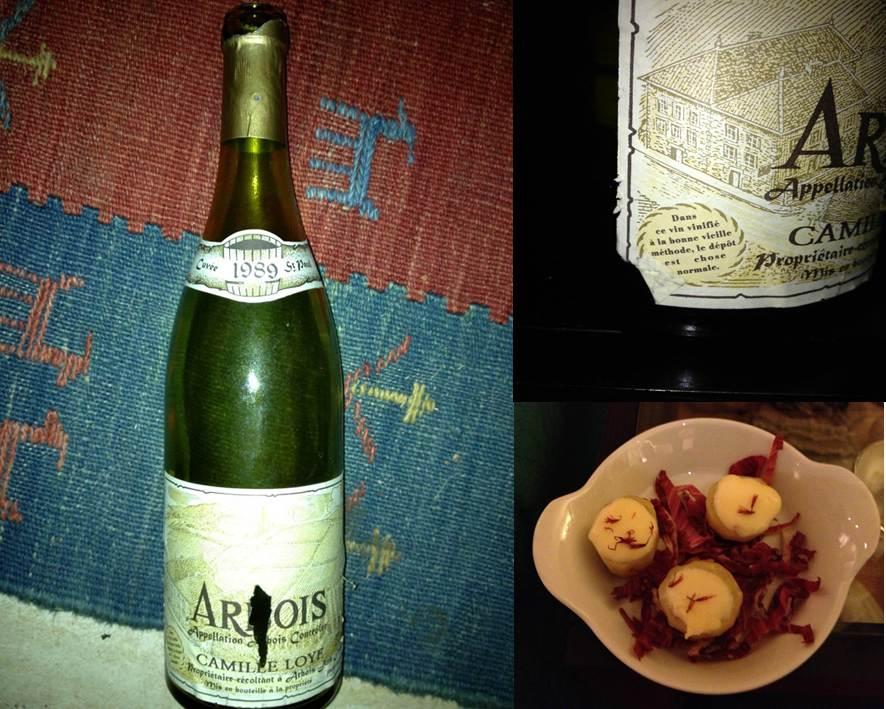 Arbois Camille Loye cuvée St Paul 1989 et pommes de terres au Mont d'Or fondu