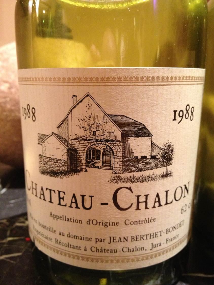 Château Chalon Berthet Bondet 1988