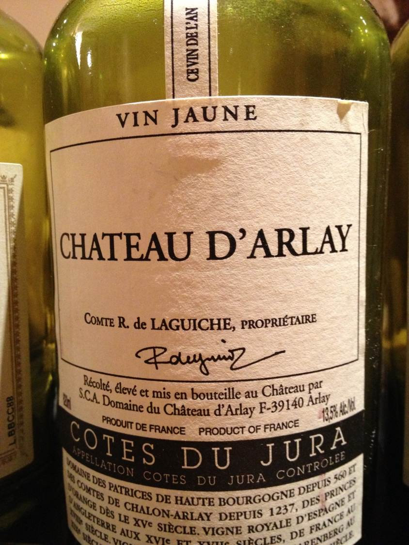 Chateau d'Arlay vin jaune 1996