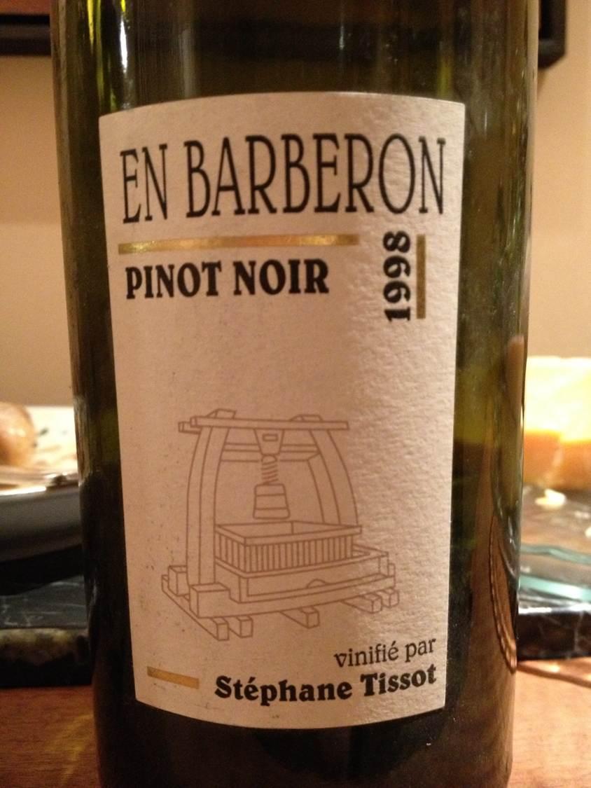 Tissot Pinot Noir En Barberon 1998