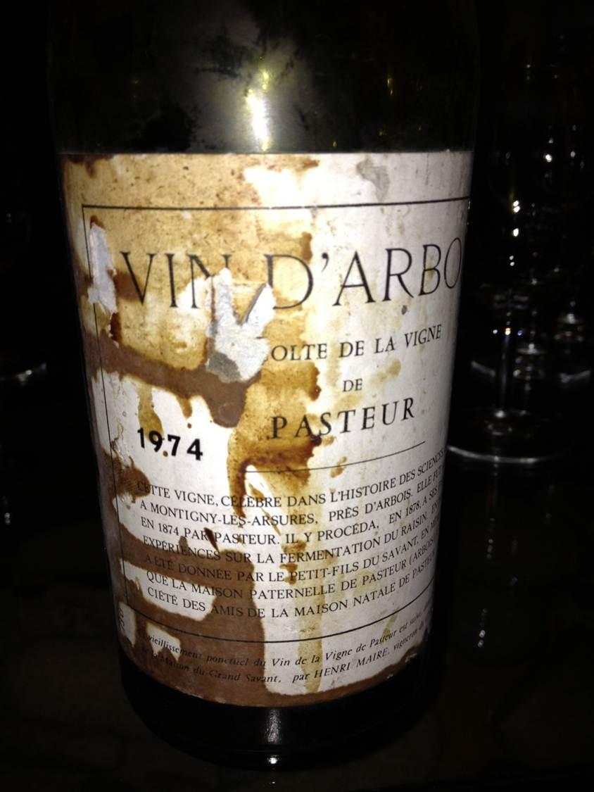 Vin d'Arbois Vigne de Pasteur 1974