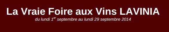 Foire aux vins Lavinia 2014