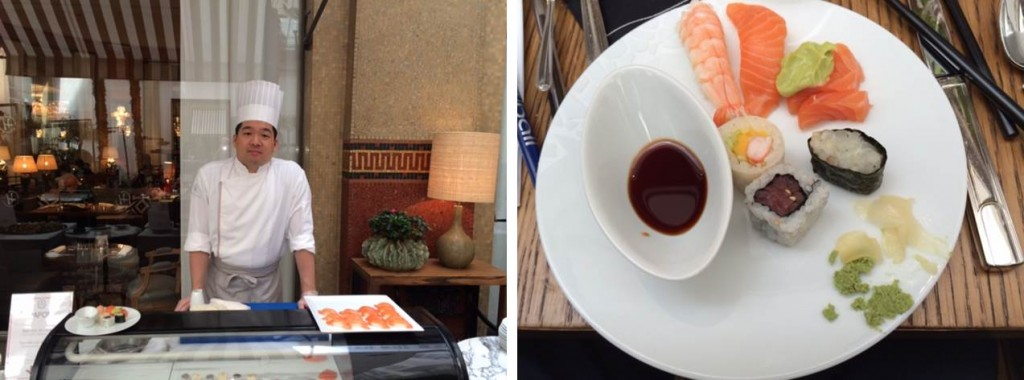 La Réserve de la famille, en accord parfait sur les sushis de Daiki Nishio, Maître sushis à l'hôtel Prince de Galles