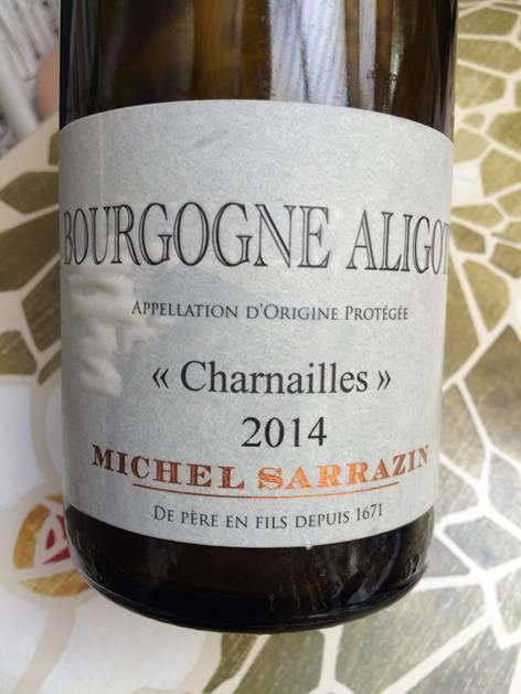 Aligoté Michel Sarrazin Charnailles 2014