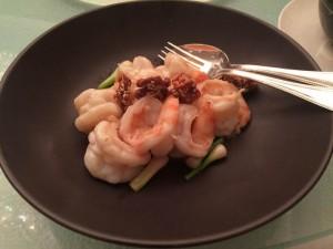 Crevettes aux noix